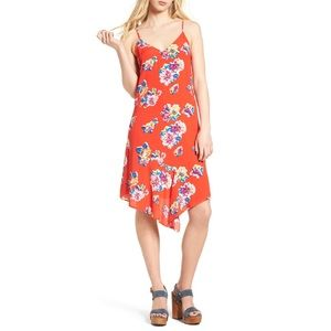 BP. Asymmetrical floral print spring summer dress